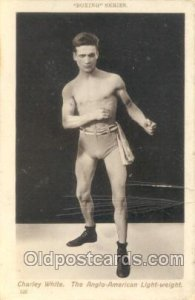 #123 Charley White Boxing Series Unused card has a lot of image cracks on r...