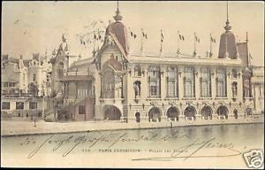 Exposition 1900 Paris, Palais des Forêts, Litho, Stamp