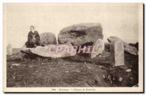 Old Postcard Dolmen Menhir Carnac Dolmen Kermario Folklore