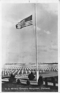 Margraten Holland Netherlands~US Military Cemetery~1948 Military RPPC Postcard