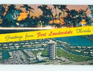 Pre-1980 TWO VIEWS ON CARD Fort Lauderdale Florida FL ho7750