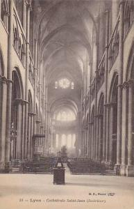 Lyon, Interior of Cathedrale Saint-Jean, Rhone-Alpes, France, 10-20s
