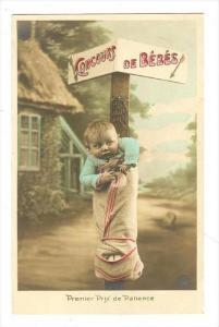 RP  Baby in stocking, 00-10s   Concours de Bebes   Premier Prix de Patience