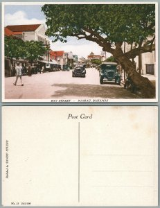NASSAU BAHAMAS BAY STREET ANTIQUE POSTCARD