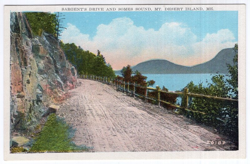 Mt. Desert Island, Me, Sargent's Drive and Somes Sound