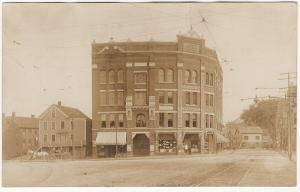 Haverhill MA 1906-15 RPPC Lafayette Square Market/Pharmacy Real Photo Postcard