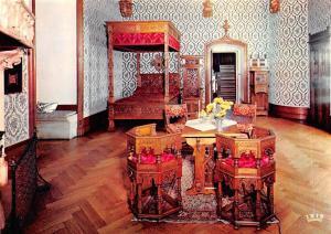 Belgium Chateau de Gaasbeek Bruxelles, Blauwe Kamer Castle Blue Room