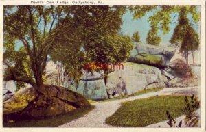 DEVIL'S DEN LEDGE GETTYSBURG, PA 1924publ by C.A. Blocher