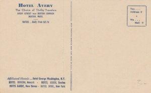 BOSTON, Massachusetts , 00-10s ; Hotel Avery, Jockey card