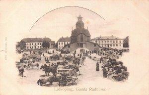 LIDKOPING SWEDEN~GAMIA RADHUSET~1900s ALBIN ANDERSSON PHOTO POSTCARD