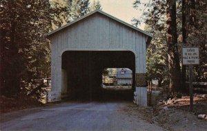 BELKNAP COVERED BRIDGE McKenzie River, Lane County, Oregon 1966 Vintage Postcard