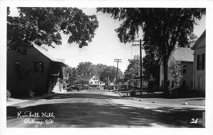 Putney VT Kimball Hill Street View Storefronts RPPC Postcard