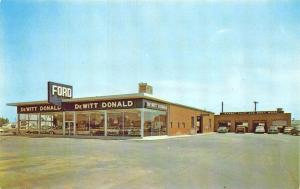 Millington TN DeWitt Donald Ford Car Dealership Postcard