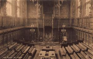 The House of Lords The Gilded Chamber Gothic Hall Postcard