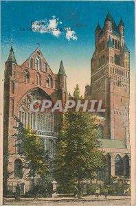 Old Postcard BRUGES La Cathedrale St Savior