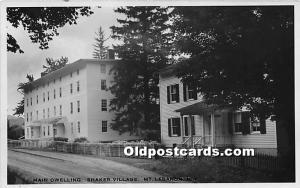 Main Dwelling, Shaker Village, Real Photo Mount Lebanon, NY, USA Label sticke...