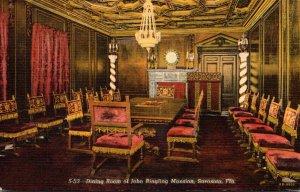 Florida Sarasota John Ringling Mansion Dining Room Curteich