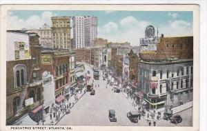 Georgia Atlanta Trolleys On Peachtree Street