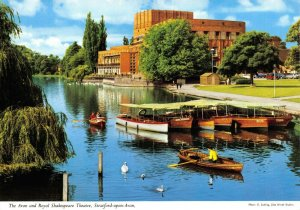 Warwickshire Postcard The Avon Royal Shakespeare Theatre Stratford Upon Avon FO8