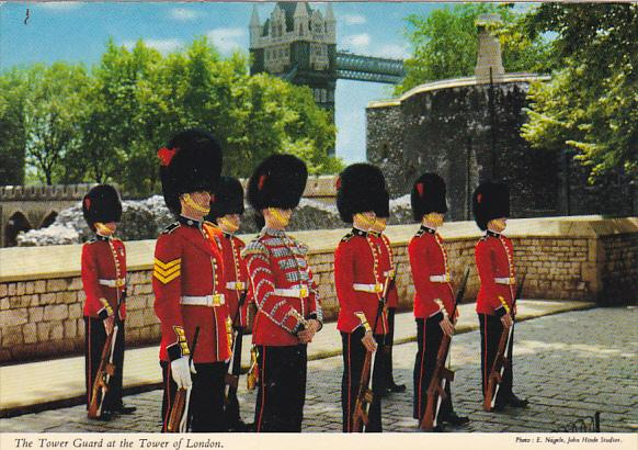 England Tower Guard at Tower Of London