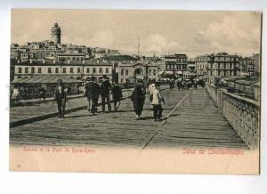 233058 TURKEY CONSTANTINOPLE Kara-Keuy bridge Vintage postcard