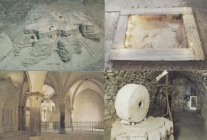 Jerusalem Footprint Of Christ Qumran Caves Olive Oil Press 4x Postcard s