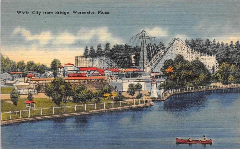 Massachusetts  Worcester ,  White City Amusement , Roller Coaster