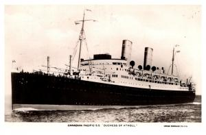 S.S. Duchess of Atholl, Canadian Pacific  Line RPPC