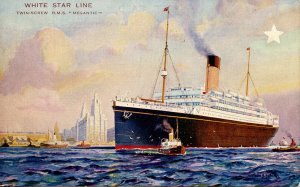 White Star Line - RMS Megantic. Artist: Montague Black