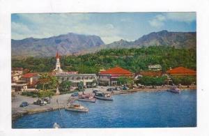 Aerial View, Oceanside Town, Papeete,Tahiti, 60-70s