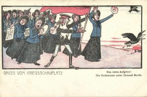BOER WAR, Caricature, General Booth leads The Salvation Army (1899)