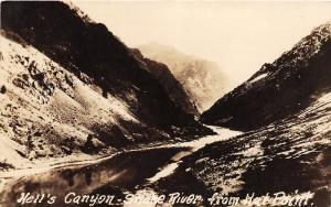 F26/ Snake River Hell's Canyon Idaho RPPC Postcard c30s Hat Point