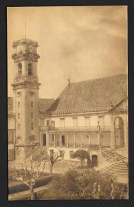 University Tower Coimbra Portugal unused c1920's