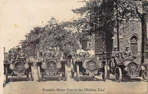 Syracuse NY Glidden Tour Franklin Air-Cooled Motor Cars RPPC Postcard