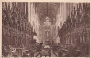 England Winchester Cathedral Choir Stalls & Screen