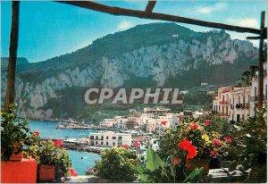 Modern Postcard Capri Panorama seen from the Great Marine