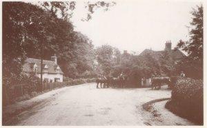 Hertford Road at Digswell Water 1919 Sweet Shop Postcard