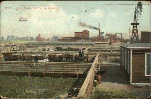 Hutchinson KS Stock Yards c1910 Postcard