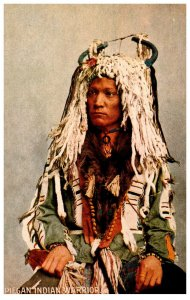 American Indian  Piegan Warrior  ,  Reproduction
