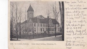 PHILIPSBURG, Pennsylvania, PU-1906; Public School Building