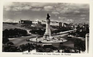 RP, Monumento E Praca Marques De Pombal, LISBOA, Portugal, 1920-1940s