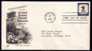 1971 US Sc #1396 FDC Inauguration Of US Postal EmblemExcellent Co...