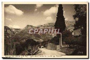 Postcard Old La Douce France Gorges du Loup M Gourdon seen Vence Road