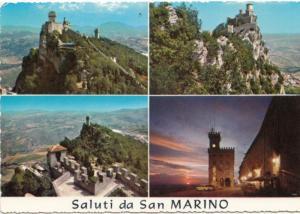 Saluti da San Marino, used Postcard