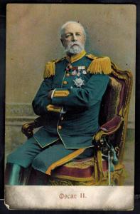1909 Oskaloosa Iowa RPPC Postcard Cover King Oscar II of Sweden to troy NY