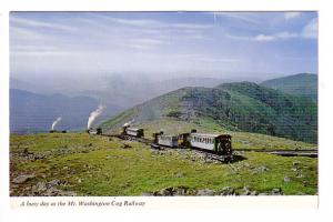 Mount Washington Cog Railway, Steam Trains and Track, New Hampshire, Photo Di...