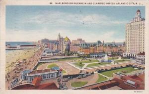 New Jersey Atlantic City Marlborough-Blenheim and Claridge Hotels 1935 Curteich