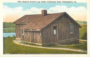 General Grant's Log Cabin Fairmount Park Philadelphia PA W/B