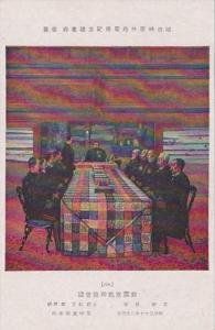 Japan Tokyo Men Sitting At Table
