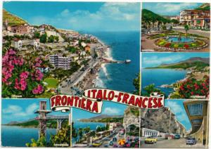 ITALO-FRANCESE FRONTIERA, used Postcard